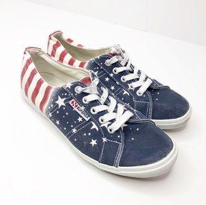 Superga USA Flag Red White Blue Sneakers Size 7.5W
